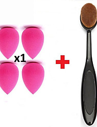 Pro Oval Brush Makeup x1 Beauty Sponge Blender Contour Foundation Cream Powder