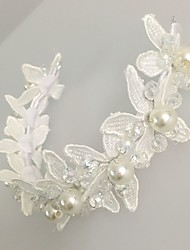 Women's Lace Pearl Alloy Acrylic Headpiece-Wedding Special Occasion Flowers Wreaths 1 Piece
