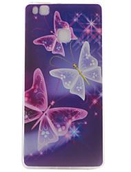 Pour Coque Huawei P9 P9 Lite Motif Coque Coque Arrière Coque Papillon Flexible PUT pour Huawei Huawei P9 Huawei P9 Lite