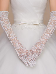 Elbow Length Fingertips Glove Lace Bridal Gloves / Party/ Evening Gloves