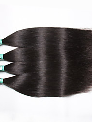 "4 Pcs /Lot 8""-30"" 5A Malaysian Virgin Hair Straight Human Hair Extensions 100% Unprocessed Malaysian Remy Hair Weaves"