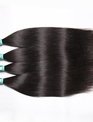 """4 unidades / lote 8 """"-30"""" 5a malaio cabelo virgem reta extensões de cabelo humano de 100% cabelo remy malaia não transformados tece"""