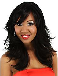 24inch длинные вьющиеся черные волосы парик шнурка ни синтетические парики бесплатная доставка