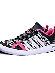 Sapatos Interior Feminino / Masculino Preto e Vermelho / Preto e Branco Couro