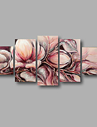 "Stretched (ready to hang) Hand-painted Oil Painting 60""x32"" Canvas Wall Art Modern Flowers Light Pink"