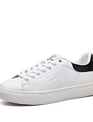 Scarpe Donna-Sneakers alla moda-Tempo libero / Formale / Casual-Comoda-Piatto-Di corda / Pelle-Nero / Bianco