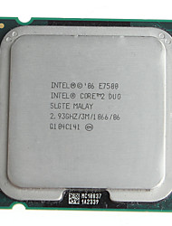 Masse echte Intel Core 2 Duo E7500 2,93 GHz 45-Nanometer LGA775 Desktop-CPU-Prozessor