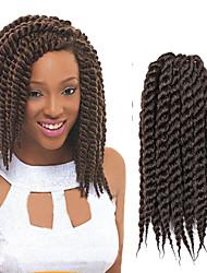 Medium Brown Havana Twist Braids Hair Extensions 12inch Kanekalon 2X Strand 120g/Pack gram Hair Braids