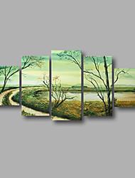 """растянуты (готов повесить) ручной росписью маслом 60 """"x32"""" холст стены искусства современной абстрактной весенний лес"""