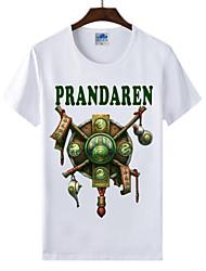 flaming monde light® of warcraft wow t-shirt course panda cosplay lycra de coton