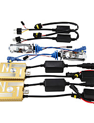 12V55W ocultó el lastre decodificación de los faros de conversión kit de lámpara de lente h4 3000k 4300k 5000k 6000k 8000k