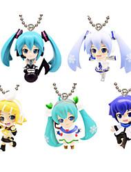 Vocaloid Hatsune Miku 10CM Las figuras de acción del anime Juegos de construcción muñeca de juguete
