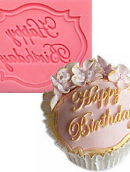 Happy Birthday English Fondant Silicone Mold liquid Silicone