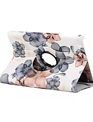 360 Degree Beautiful Peach Blossom  PU Leather Flip Cover Case for iPad Air 2(Assorted Colors)