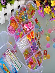 большие ноги прозрачный кристалл детские поделки бисер тканый браслет раннего детства обучающие игрушки вручную