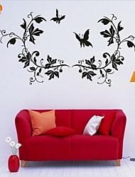 Romance / De moda / Florales Pegatinas de pared Calcomanías de Aviones para Pared,PVC S:30*56cm / M:41*76cm / L:51*95cm