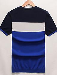 Summer 2016 thin Men T-shirt male silk T-shirt slim Korean clothes soft half sleeve shirt