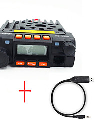QYT KT8900 Dual Band Transceiver VHF/UHF 20W MINI Moblie Radio+USB Programming Cable