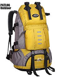 50 L Rucksack Camping & Wandern Outdoor Wasserdicht / Regendicht / Multifunktions Gelb / Rot / Schwarz / Blau / Orange600D Ripstop /