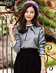 Wake Up ® Mujer Escote Chino Manga 3/4 Camisa y blusa Gris-CS16008