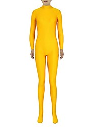 Zentai Suits Ninja Zentai Cosplay Costumes Yellow Solid Leotard/Onesie / Zentai Lycra / Spandex Unisex Halloween / Christmas