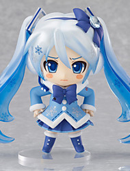 Vocaloid Snow Miku PVC One Size Anime Action Figures Model Toys Q Version 1pc 10cm