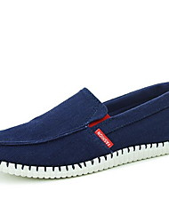 Men's Shoes Casual Canvas Loafers Blue / White