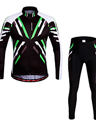 Wosawe® Cycling Jersey with Tights Unisex Long SleeveBreathable / Quick Dry / Anatomic Design / 3D Pad / Reflective Strips / Back Pocket
