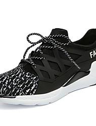 Femme-Bureau & Travail / Décontracté / Sport-Noir / Rouge / Blanc-Talon Plat-Confort / Nouveauté-Chaussures d'Athlétisme-Polyuréthane