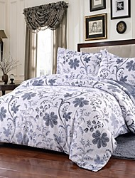 Simple Opulence Duvet Cover Set Microfiber luxury Printed White Blue Include Quilt Cover Pillow Cases Queen King