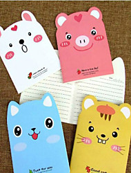 5PCS Cute Animals Diary Carry A Notepad Pad Student Award(Style random)