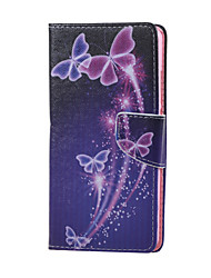 For Huawei Case Wallet / Card Holder / with Stand Case Full Body Case Butterfly Hard PU Leather Huawei Huawei Honor 5X