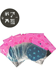 1PCS Nail Art Stamp Stamping Image Template Plate M Series NO.1-81(Assorted Pattern)