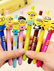 8PCS South Korea Stationery Yellow Neutral Pen Black Water-Based Pen Creative Pen