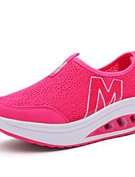 Zapatos Paseo Tul Negro / Rojo / Gris Mujer