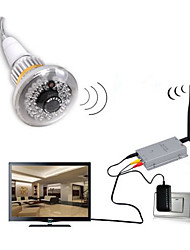 2.4G Wireless Bulb CCTV Security AV Camera Set with 600TV Lines Censor 36pcs IR LEDs (940nm) And Invisible Light