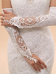 Opera Length Fingerless Glove Tulle Bridal Gloves / Party/ Evening Gloves Spring / Summer / Fall / Winter Embroidery / lace
