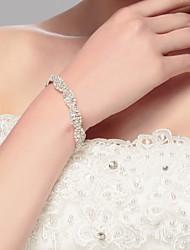 Bracelet Chaîne Argenté / Alliage Strass Femme