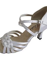 Women's Wedding Shoe Customized Heel Open Toe Dancing Shoe Party Salsa Latin Shoe More Colors