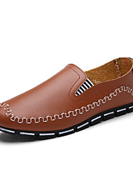 Men's Shoes Casual Loafers / Slip-on Black / Blue / Brown / White