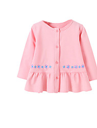 Girl's Pink / Red Dress Cotton Spring / Fall