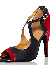 Zapatos de baile(Rojo) -Latino / Salsa-No Personalizables-Tacón Stiletto