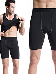 Running Shorts Men's Quick Dry / Compression Polyester / ElastaneYoga / Exercise & Fitness / Racing / Leisure Sports / Basketball /
