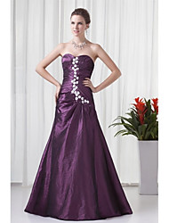 Formal Evening Dress - Vintage Inspired A-line Sweetheart Floor-length Taffeta with Appliques Side Draping