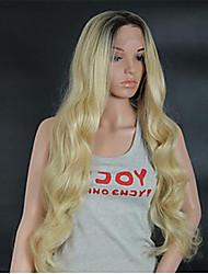 """10 """"-24"""" бразильские волосы девственные 613 шнурка человеческих волос блондинка парики шнурка Glueless парики шнурка"""