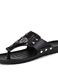 Men's Shoes Casual Leather Sandals / Flip-Flops