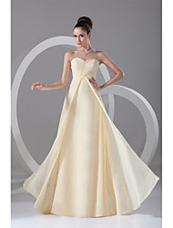 Formal Evening Dress Sheath / Column Sweetheart Floor-length Chiffon with Pleats