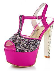 Women's Shoes PU Chunky Heel Heels / Peep Toe / Platform / Slingback / T-Strap Sandals Party & Evening / Dress / Casual
