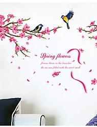 Animals Birds Botanical  Wall Stickers Words & Quotes / Romance / Florals / Landscape Wall Stickers Plane Wall Stickers,
