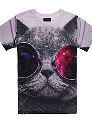 3D Pattern Male As Picture Cosplay The cat Sunglasses Cosplay Costumes T-shirt